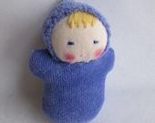 Iris baby, Waldorf Pocket Doll, germandolls, miniature baby, Waldorf Easter, Easter basket, gift for girl