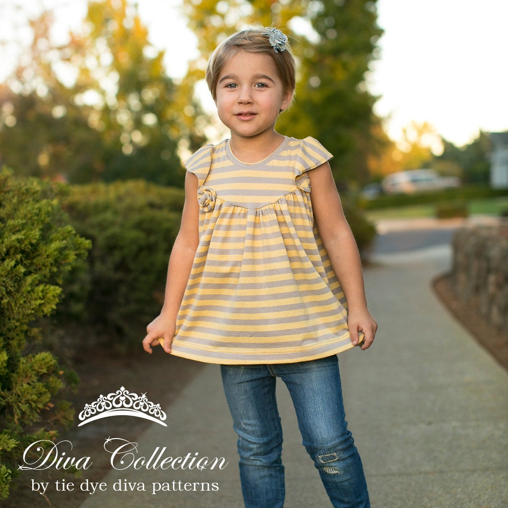Opal Girls Top and Dress Pattern Knit Tunic or Dress with