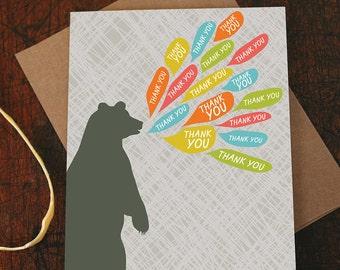 thank you card / bear