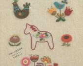 Cute Felt Wool Embroidery Designs  - Japanese Craft Book