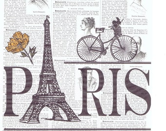 Paris,Bike.Eiffel Tower.Antique French.book page print.france.travel.europe.buy 3 get 1 FREE,birthday.home decor.eco.europe.art.bicycle.rose