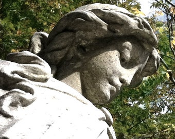 Cemetery statue face stock photo image free use