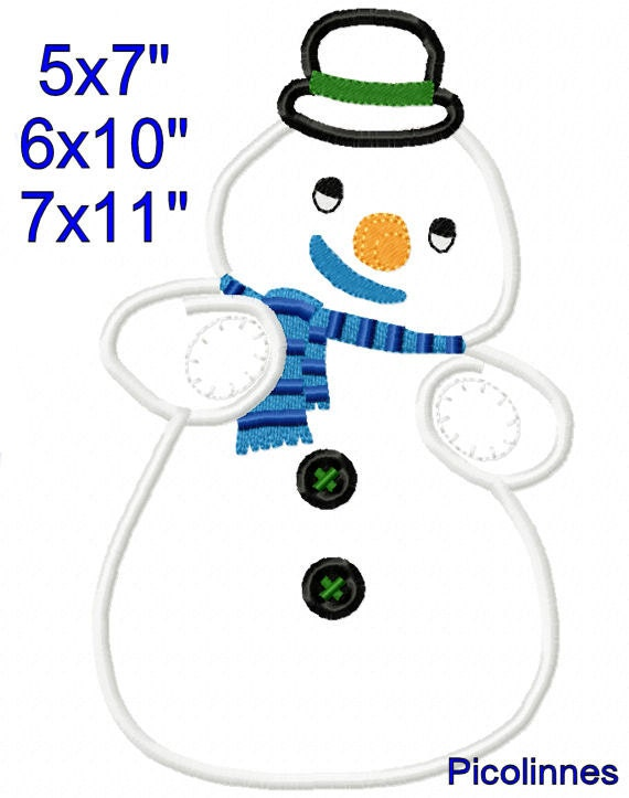 Chllly snowman mcstufflns applique design machine for 7x11 bathroom layouts
