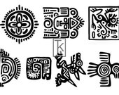 Mayan Aztec #3 Larger Size Clear Stamp Texture