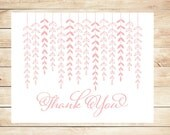 Flower Vine Thank You Cards - Flower Stationery