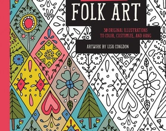 Lisa Congdon Folk Art Coloring Book