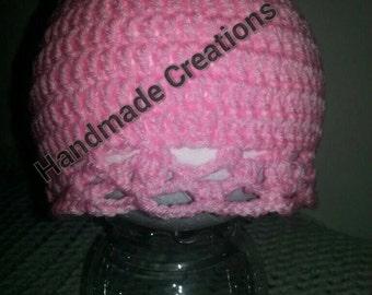 Child pastel pink beanie