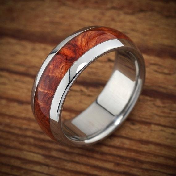 titanium wood wedding band amboyna men 39 s ring. Black Bedroom Furniture Sets. Home Design Ideas