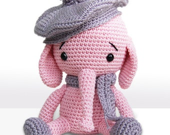 Amigurumi Crochet Elephant Pattern - Emily the Elephant - Softie - Plush