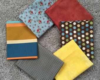 Fabric Destash no. 131, 132 -- 6 Fat Quarters