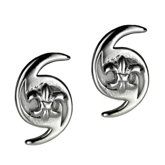 hurricane katrina fleurdelis symbol sterling silver 925