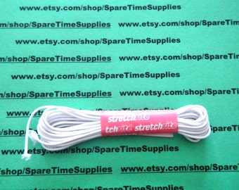 Stretchrite - 3960 Elastic Round Cord - white - 5 yds - 1 pkg
