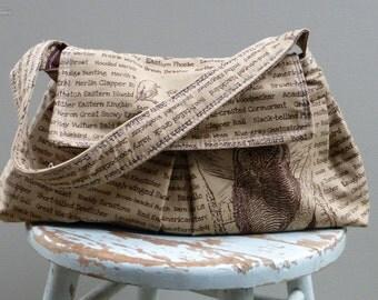 Tobacco Brown Bird Shoulder Bag