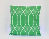 """PRoGRESSIVE SALE Grass Green, Throw Pillow, Geometric Floral, Modern Flower Pillow Cover 18X18"""""""