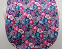 Youth/Junior Bib, Special Needs, Cerebral Palsy, 14-inch neck opening:  Blue, Pink, Packed Flowers
