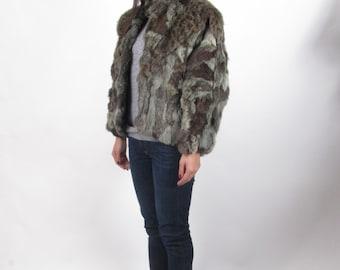 vintage 70s leopard print fur coat BATWING shawl poncho cape capelet jacket