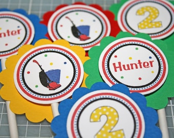 VACUUM Cupcake Toppers / Vacuum Toppers / Cleaning Toppers / Vacuum Birthday Party / Vacuum Baby Shower / Vacuum Cupcake Picks / Any Age
