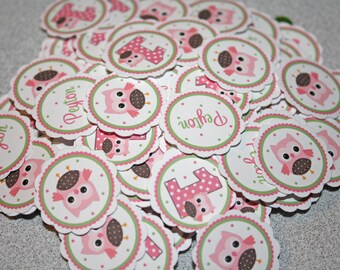 OWL Table Confetti / OWL Confetti / Owl Table Minis / Sweet Owl Confetti / Owl Minis / Owl Party Circles / girl or boy