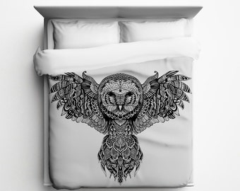 Majestic Owl Duvet Cover - Made in USA
