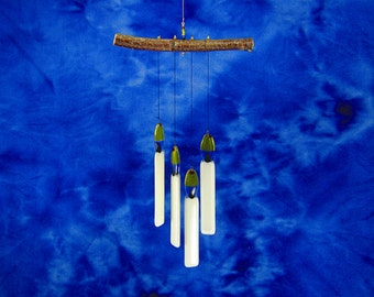Candle Wind Chime, Glass Windchime, Winter Chime