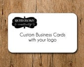Custom Business Cards with Your Logo and Text - Rounded Corners