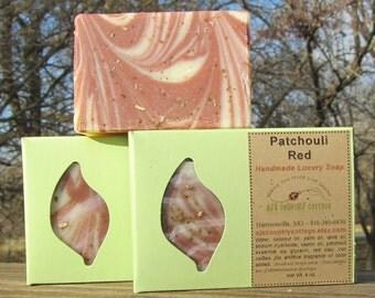 Handmade PATCHOULI SOAP - Luxury Artisan Olive Oil Bar - Essential Oil - Vegan