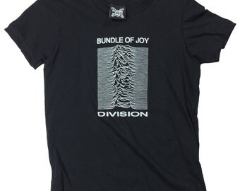 Bundle Of Joy Division kids T shirt- Ian Curtis Punk New Order Cool Funny - 7 sizes available. Screen printed. Handmade rock roll