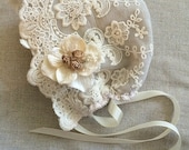 Vintage Baby Collection - Newborn Lace Bonnet Only
