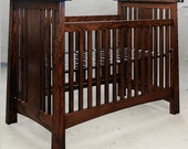 Arts and Crafts, Mackintosh, Convertable Crib, Ash. ON SALE, REDUCED 25%.