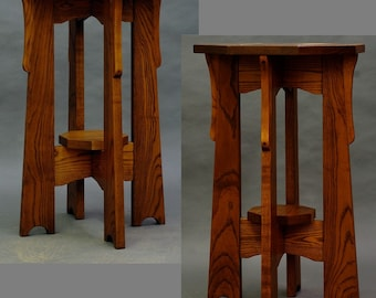 Mission, Arts and Crafts, Display Table, Plant Stand. ON SALE Reduced 25%