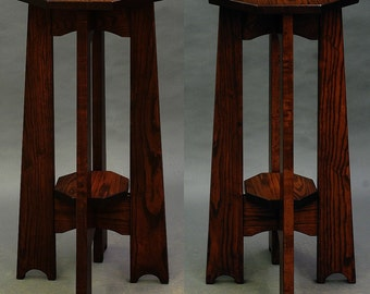 Mission, Arts and Crafts, Tall Display Table, Plant Stand. ON SALE Reduced 25%