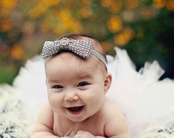 "Girls Photo Prop Tutu, White Tutu, Baby Tutu, Birthday Tutu, 6"" Sewn Economy Style Infant Tutu"