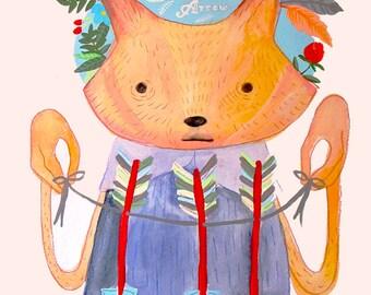 the Fox and the Arrow - PRINT