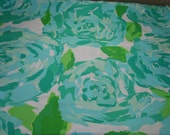 """Lilly Pulitzer fabric~""""PoolSide Blue""""~ FIRST IMPRESSION""""~ cotton poplin ~ 18 inch by 18 inch"""
