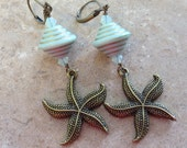 Antique Bronze Starfish Earrings