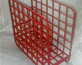 Red Catch - All Magazine and Album Bin - Organizer Rack - Storage - MOD Modern - Designed by Yaffa -  Basic Line