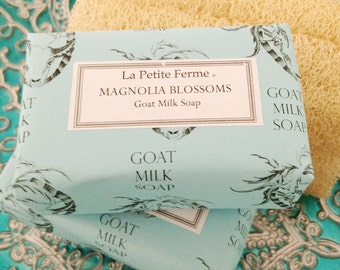 Magnolia Blossoms goat milk soap, gift for her, gift for mom, gift for coworker, gift for teacher, gift under 10