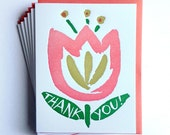 Tulip Thank You Card - set of 6