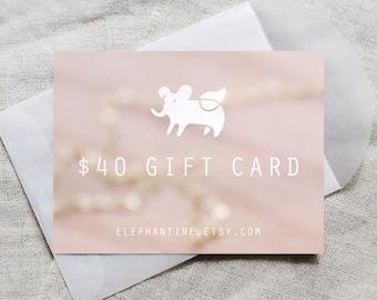 gift card - elephantine jewelry