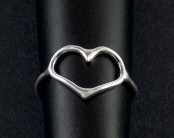 Solid Sterling Silver Heart Ring