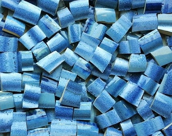 Mosaic Tiles--Zen Ocean Waves--50Tiles