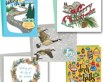 PICK ANY 6 Holiday cards