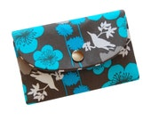 The Metro Wallet with birds and blossoms
