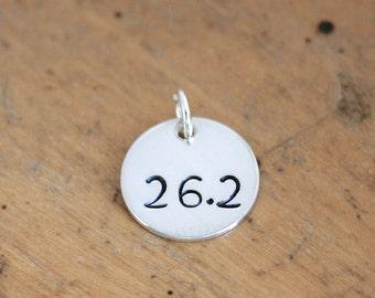 Sterling Silver medium charm custom stamped