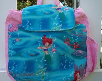 My Carrie Kindergarten Style Backpack made with Disney's Little Mermaid Fabric