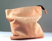 Foldover Leather Clutch. Urban Cowgirl - Western Style. Cremello Tan Nubuck Leather Clutch Purse.