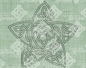 Digital Download Celtic Knot Star digi stamp, digital stamp, Irish Design, St Patricks Day, Celtic Knotwork, Christmas Star Digital Transfer