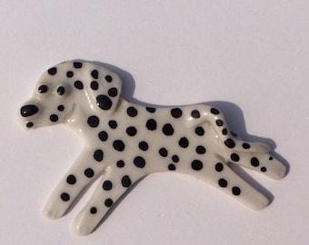 Mosaic Tile or pin Porcelain Ceramic Dalmatian