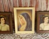 VINTAGE Saints Framed Prints