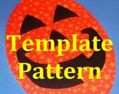 PDF Applique TEMPLATE Pattern....Happy Jack Jack O Lantern Jumbo PUMPKIN...New For Halloween 2014